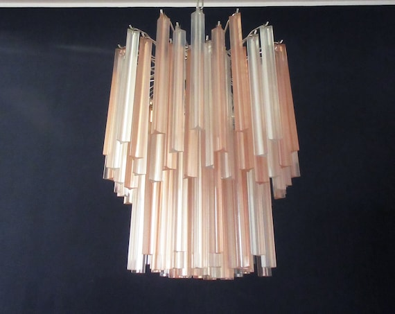 Wonderful Murano chandelier – 107 frosted prism