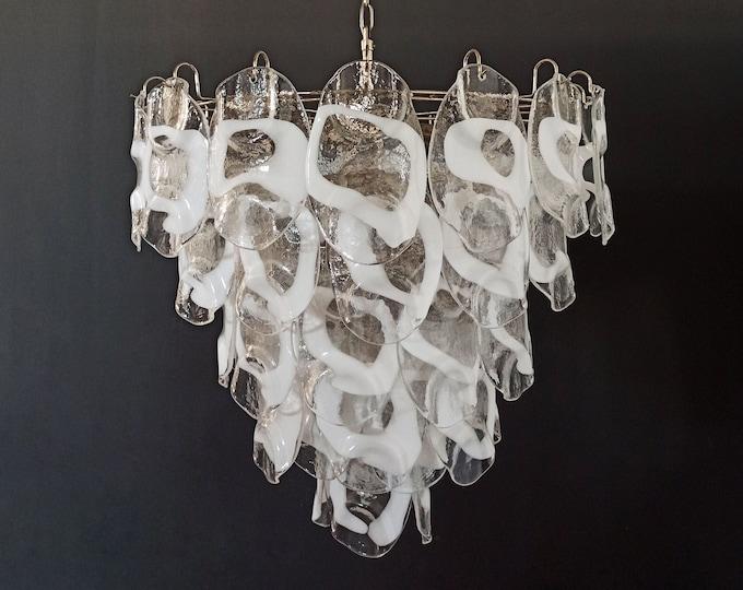 Huge Vintage Italian Murano chandelier lamp by Vistosi - 57 glasses