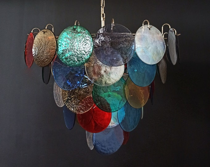 High quality Murano chandelier space age - 57 MULTICOLORED glasses