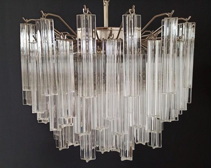 Gorgeous Murano vintage chandelier – 107 quadriedri