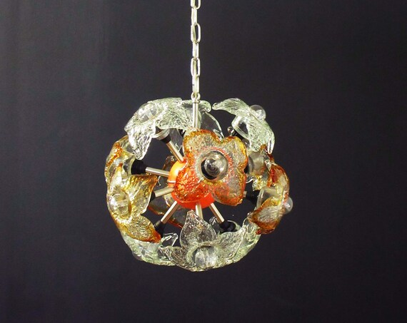 Murano Sputnik chandelier by Mazzega, Italy 1970's