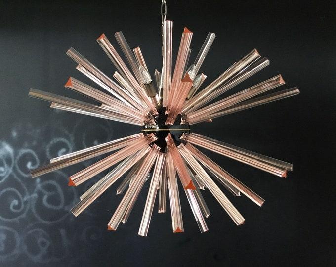 Crystal Prism Sputnik Chandeliers - 50 PINK prisms