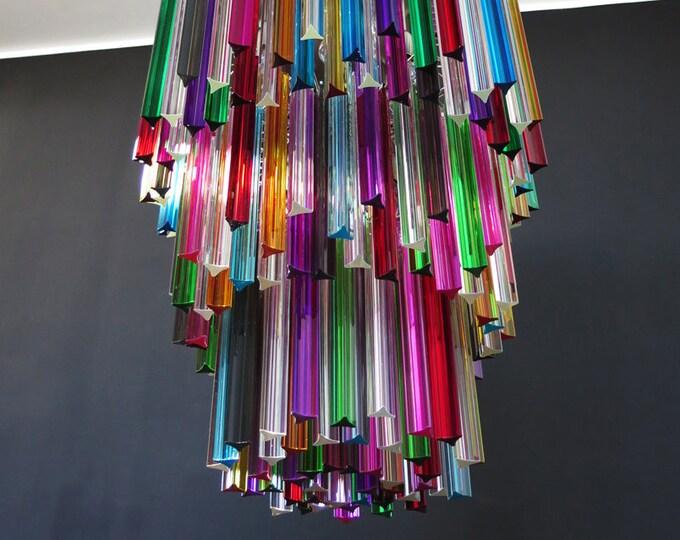 Murano chandelier multicolor triedri – 242 prism - Mariangela model