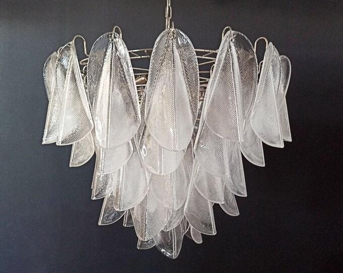 Italian vintage Murano chandelier - 57 glass rondini