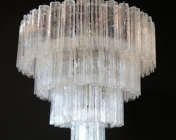 Huge Vintage Murano Glass Tiered Chandelier - 78 glasses