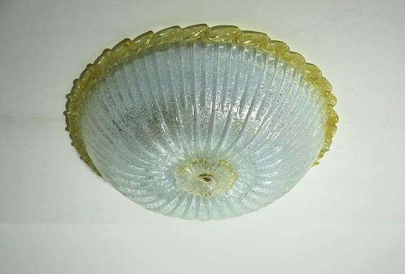 Classic Murano Ceiling Lamp - gold finishings