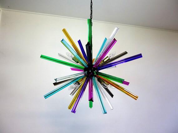 Crystal Prism Sputnik Chandeliers - multicolor glasses - Mariangela Model