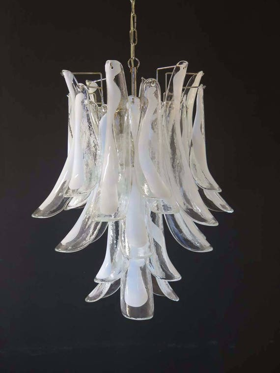 Italian vintage Murano chandelier in the manner of Mazzega - 30 glass