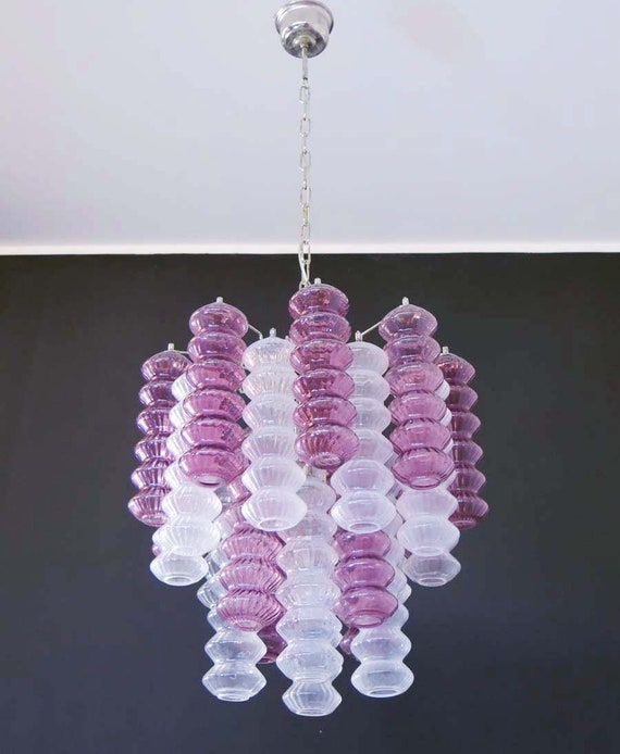 Murano Chandelier Nz: Rare Top Quality Murano Vintage Chandelier Trasparent And