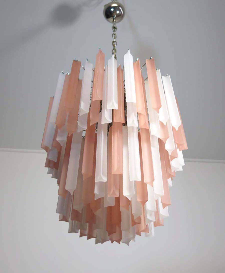 Murano Prism Chandelier: Wonderful Murano Chandelier 107 Frosted Prism Arianna