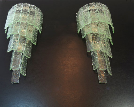 Pair of Huge vintage Murano wall sconce