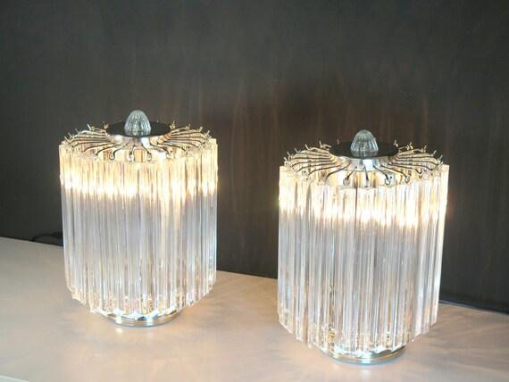 Clear Quadriedri Table Lamp - Venini Style