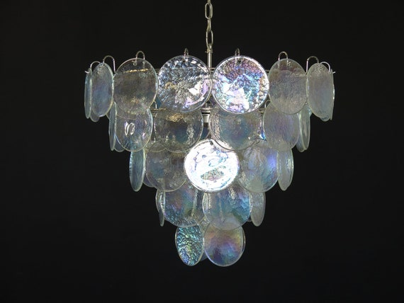 High quality Murano chandelier space age - 50 iridescent glasses