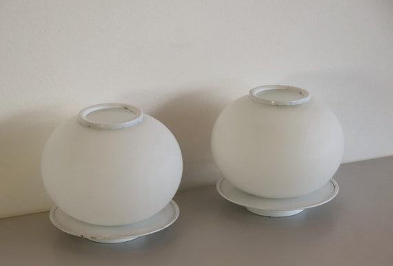 Pair of Italian vintage Murano glass table lamp - Mazzega