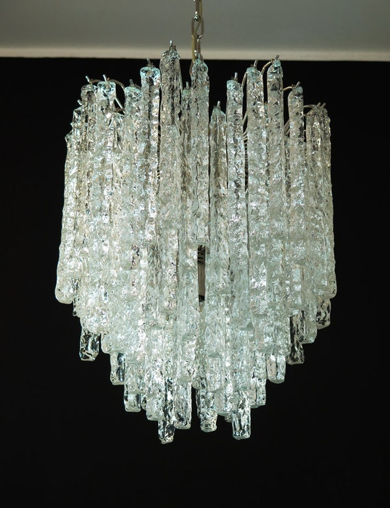 Murano glass icicles chandelier – 92 prism