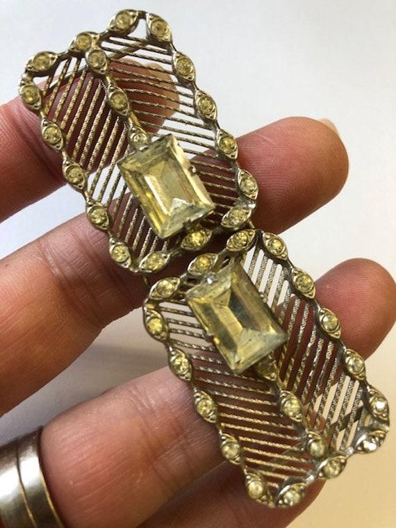 C19th Paste Sash Cloak Buckle Clasp Crystal