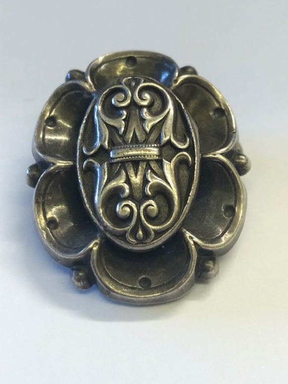 1 x Art Deco Antique Silver Combination Brooch & D