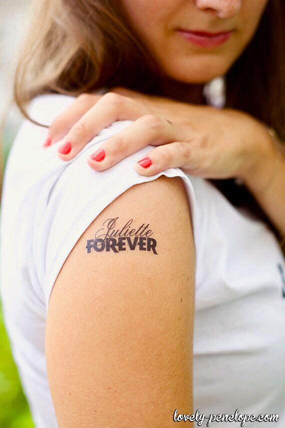 1 tatouage éphémère personnalisé prénom forever | etsy