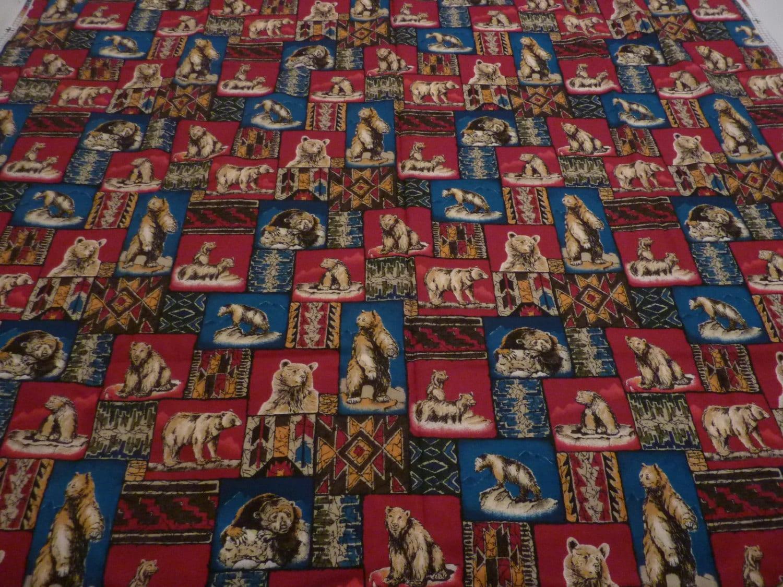 Wild Bar Stammes Print Quilten Stoff Restposten 45 X