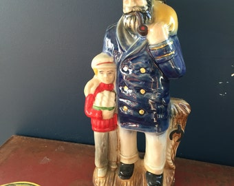 Vintage 1980 Jim Beam Sailor Decanter