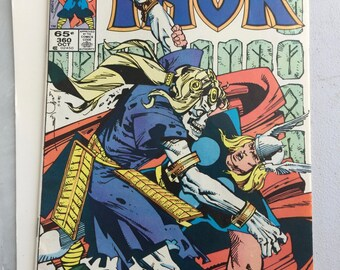 Vintage Marvel 1985 Thor Comic Book Vol. 1 No. 360