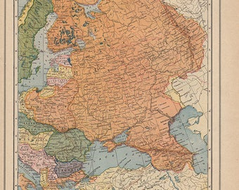 Europe Map Etsy - Vintage europe map poster