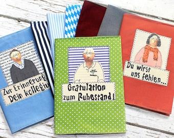 Colleagues adoption book, Pension retirement, personal photo album farewell, congratulations anniversary, book gift portrait, gray album