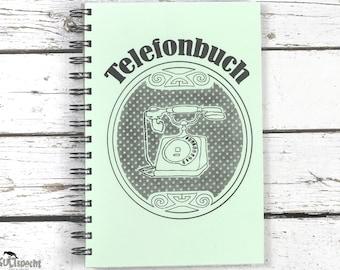 Address Book, Notebook,  Retro, Spiralbook, Phonebook, Notebook-Address, Book Phone, spiral binding, Nostalgia Retro, Retro style,