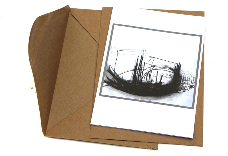 Drawing Artistic card gift art lover folding card DIN-5 image 0