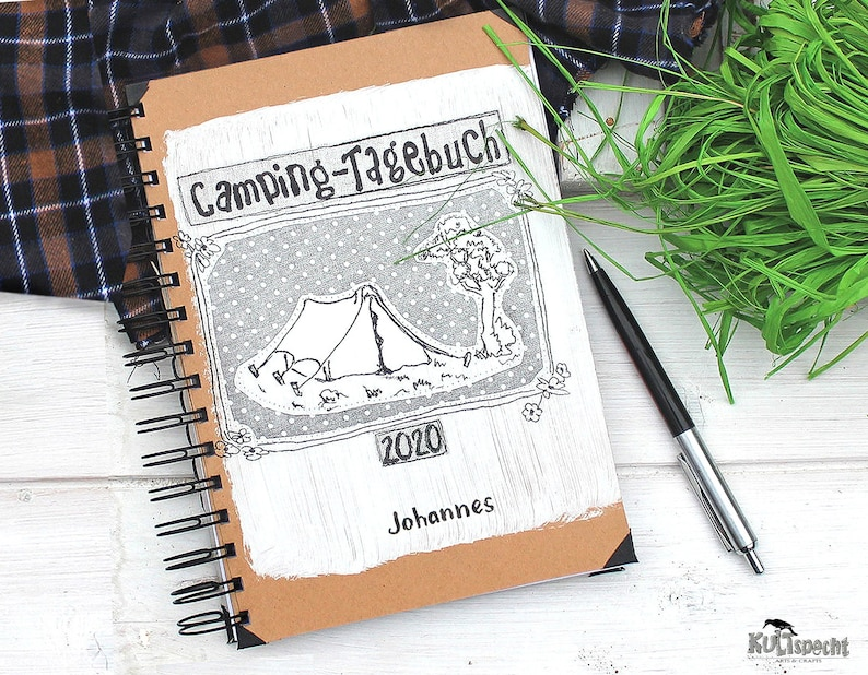 Camping diary camping photos tent camp scout book notebook image 0