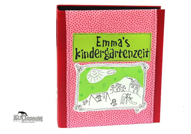 Red folder child folders for nursery school image 0