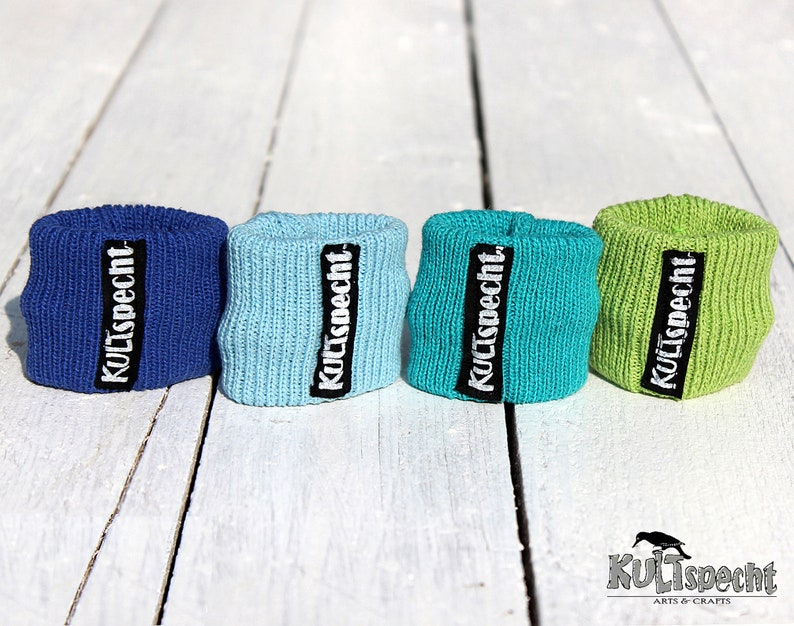 Handmade original gift wrist band knitted gift sportsband image 0