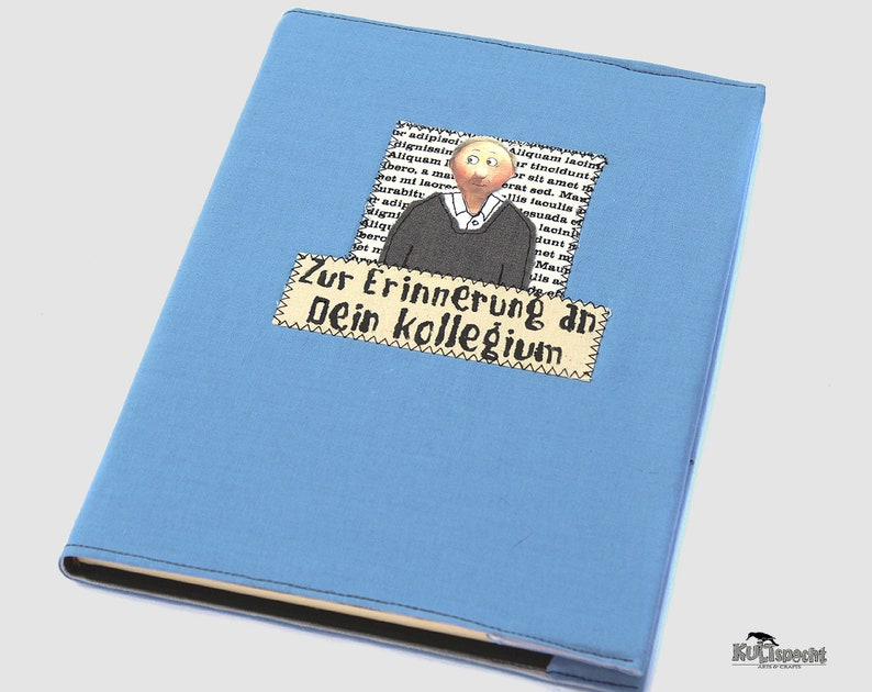 Book A4 farewell gift blue photo book farewell-gift image 0