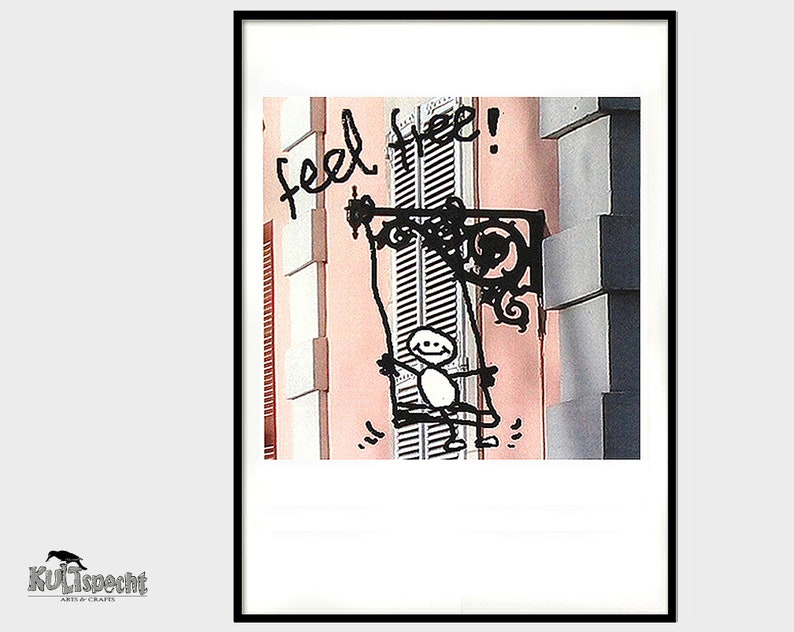 Poster Photography funny drawing with writing German image 0