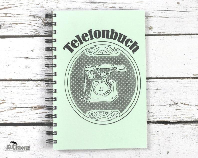 Address Book Notebook  Retro Spiralbook Phonebook image 0