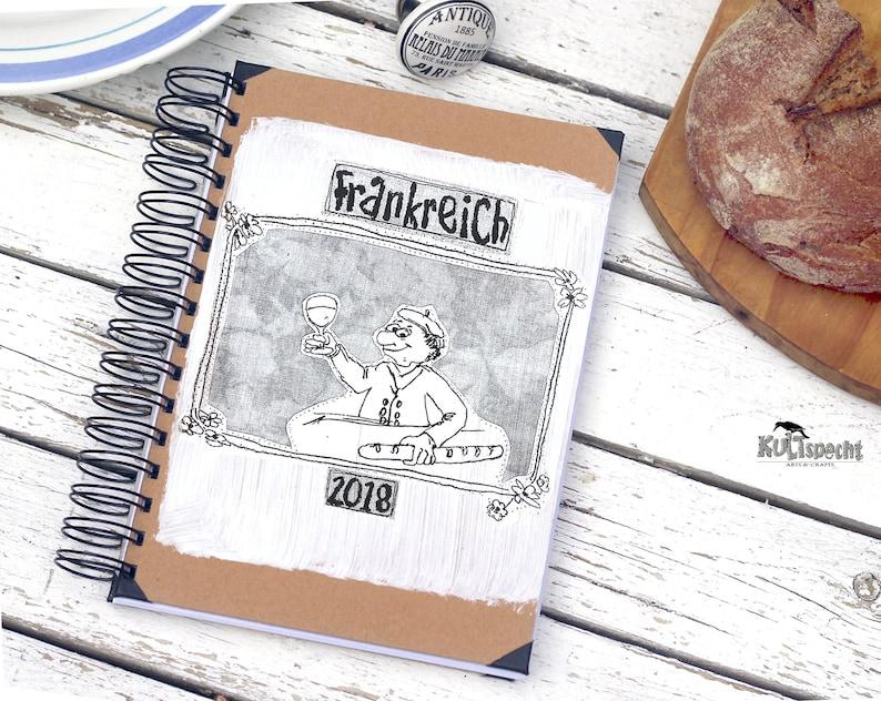 Notebook France photo album kraft paper retro style retro image 0