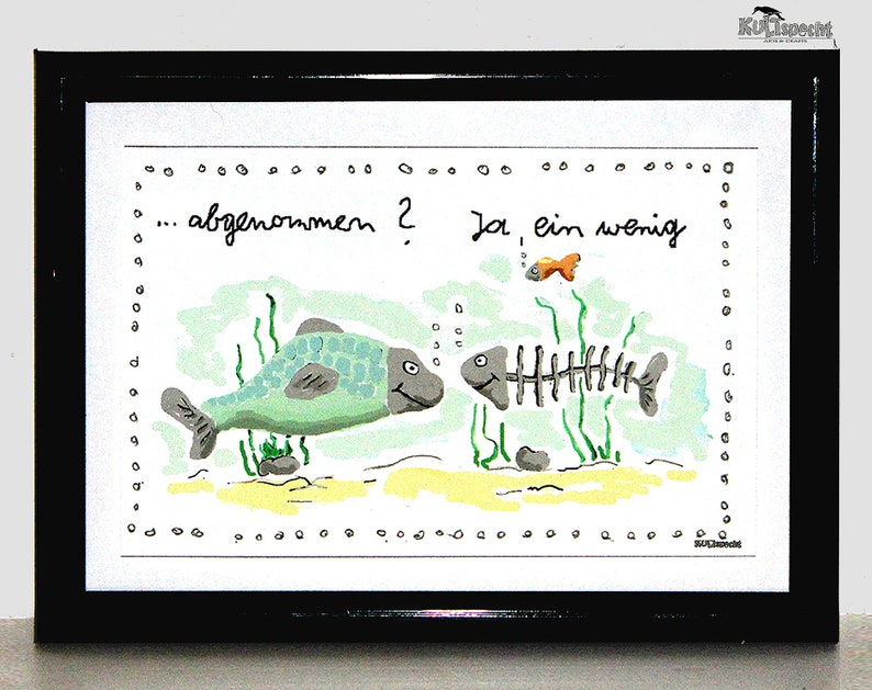 Painting Digital Illustration Fish Digital Art Gift Art image 0
