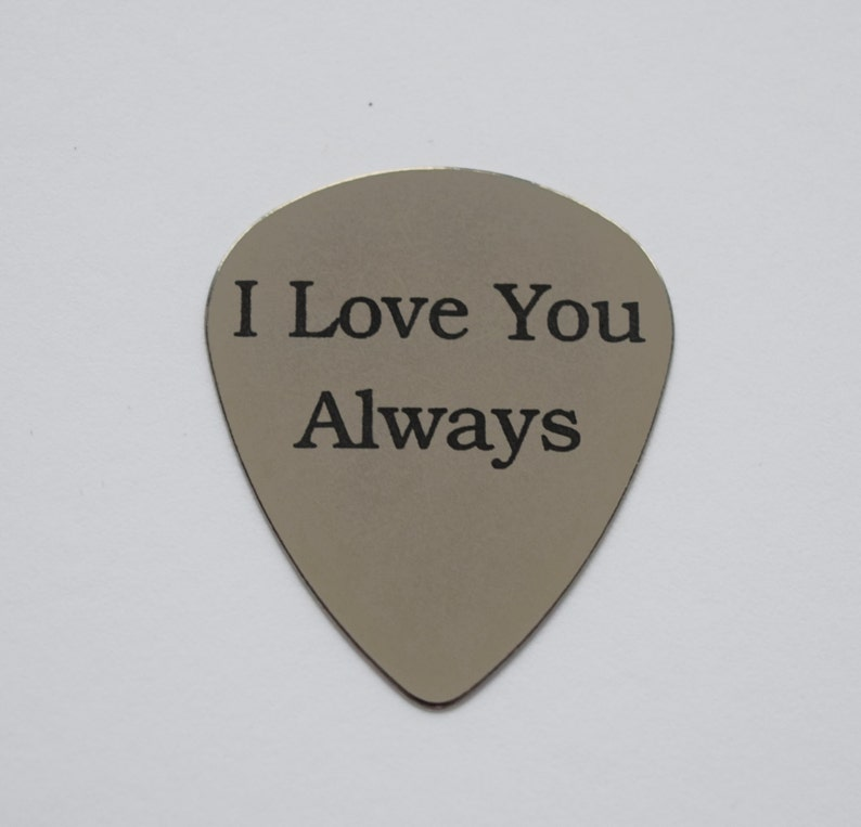 Engraved Free Silver Plated Personalised Guitar Pick Plectrum Keyring