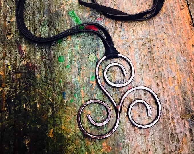 Celtic Triskelion Pendant Handmade