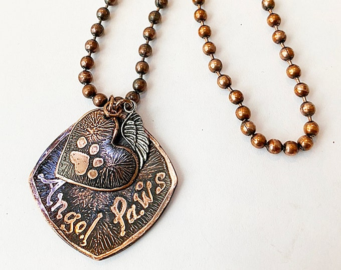 Pet Lover Copper Necklace