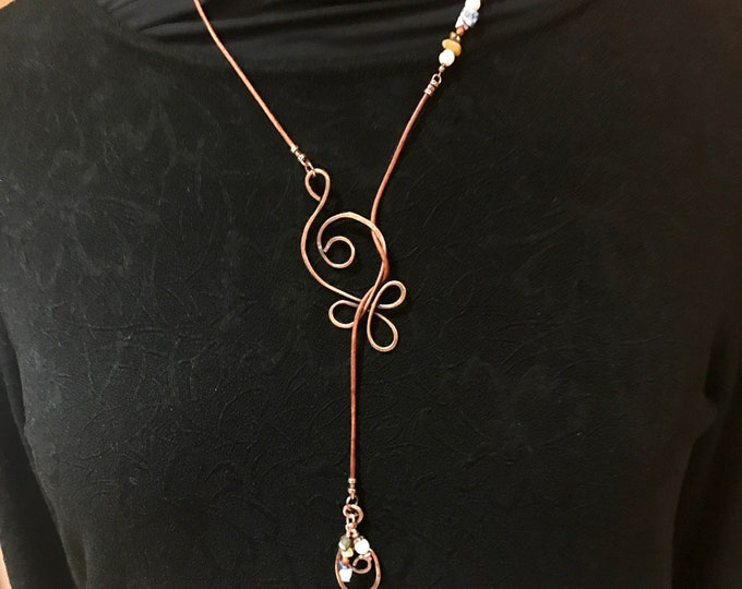 Celtic Budding Knot Lariat Necklace