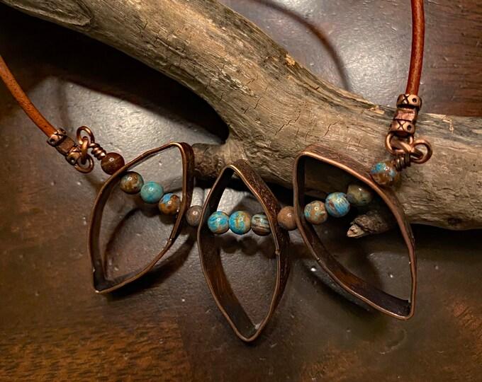 Copper Ovals and Calsilica Jasper
