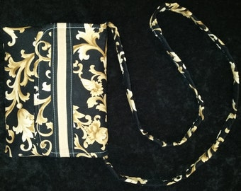 Black and Tan Banded Purse