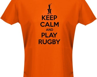 Keep Calm And Play Rugby Womens T-Shirt 8 Colours by swagwear