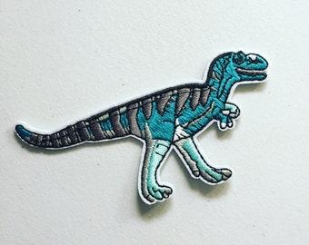 HUIXUN Dinosaur Animal Extinct Tyrannosaurus Velociraptor Embroidered Iron On Applique Patch 1 Piece