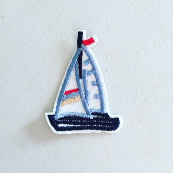 Marine Sailor Ship Anchor Iron On Embroidery Applique Patch Sew Iron Badge