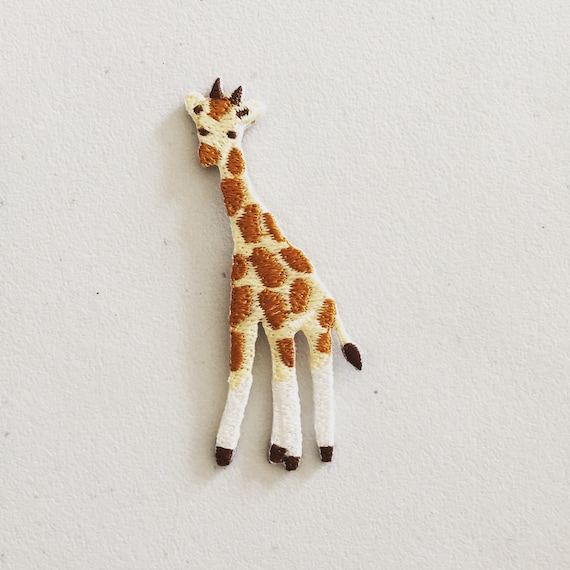 Small Giraffe Iron on Applique Patch