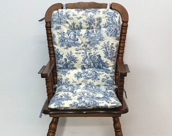 808c584f6fe13 French Country Farmhouse Style Reversible Highchair Cushion Custom Made for Wooden  Highchairs