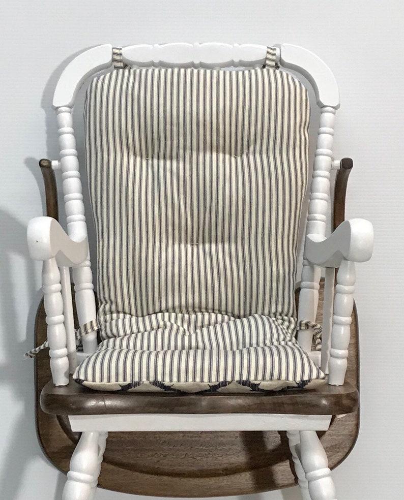 637c9d53e59bf Reversible Farmhouse Style Highchair Cushion Custom Made for