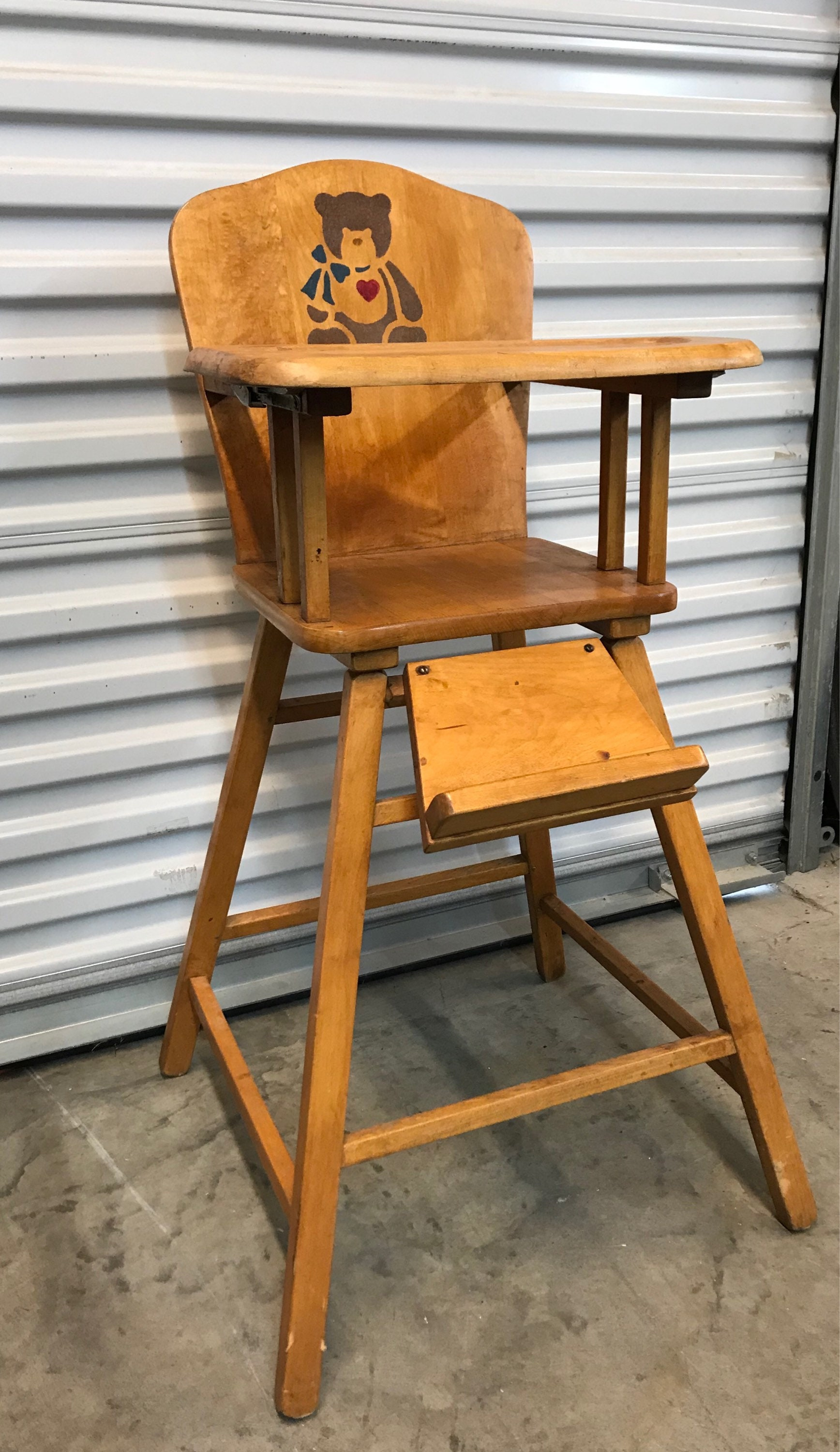 Vintage Wooden High Chairs Available for Custom Finish